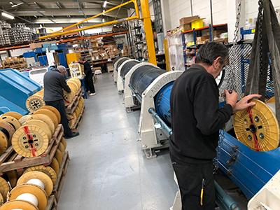large cable manufacturing drum machine